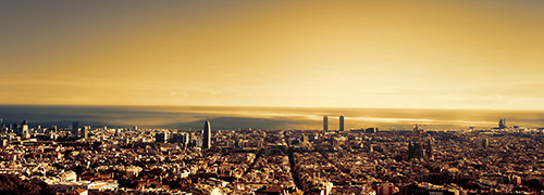 Photograph of the city Barcelona.